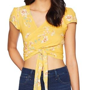 NWOT Flynn Skye That's a Wrap Top - Touch of Honey